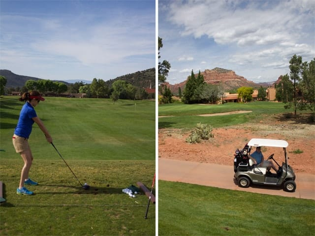 Golfing at the Hilton Sedona Golf Resort