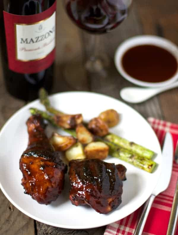Grilled and Glazed Chicken and Wine Pairing