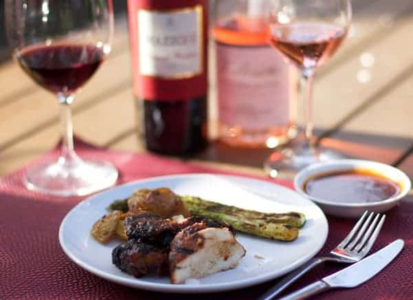 Grilled and Glazed Chicken with Wine Pairing