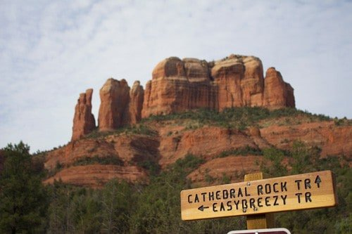 Hiking Cathedral Rock, Sedona, Arizona