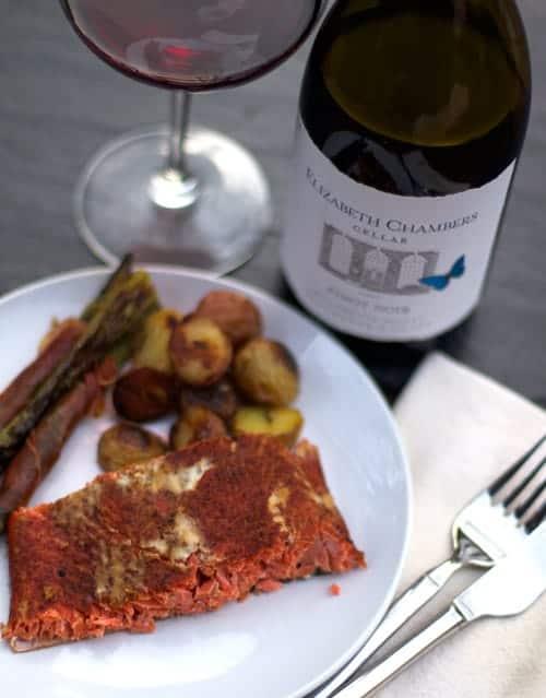Smoked Salmon and Pinot Noir