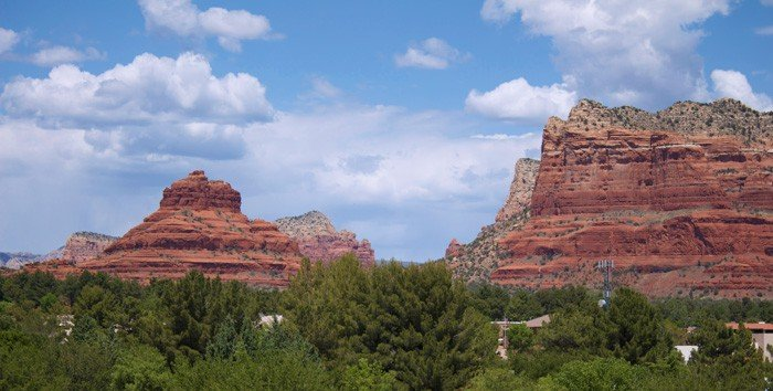 View from hotel room at the Hilton Sedona Resort and Spa