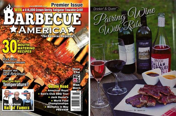 BBQ America Magazine Wine and Ribs Article