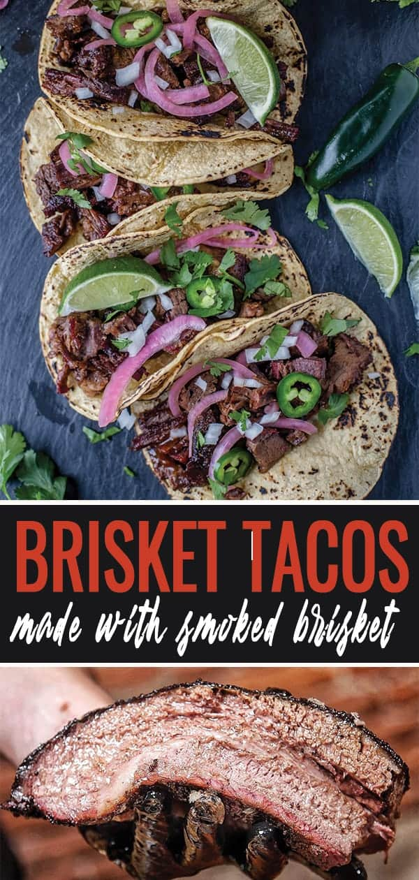 Brisket Taco pin for pinterest