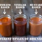 Different Styles of BBQ Sauces and Recipes for Three Styles
