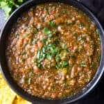 Bowl of Easy Homemade Blender Salsa