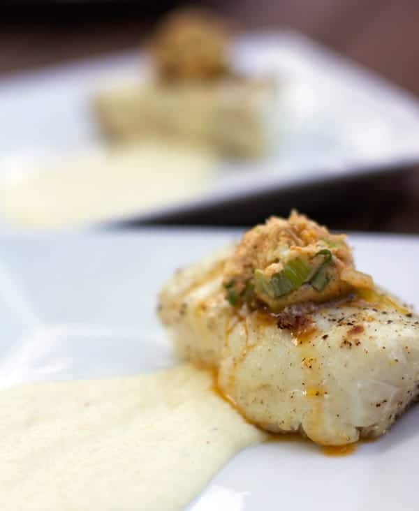 Grilled Halibut with Parsnip Puree