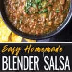 Homemade Blender Salsa Pin