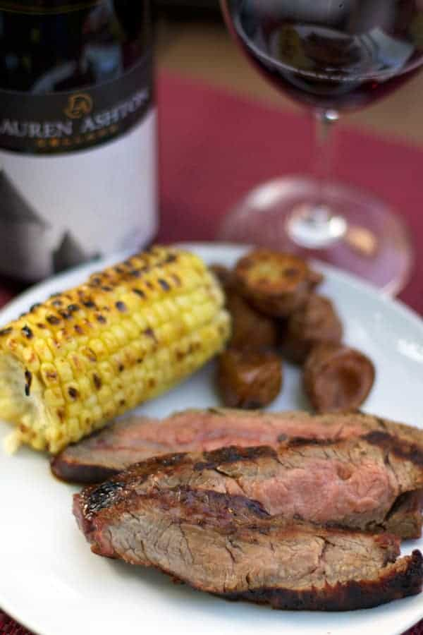 Marinated Grilled Flank Steak and Wine Pairing from Vindulgeblog.com