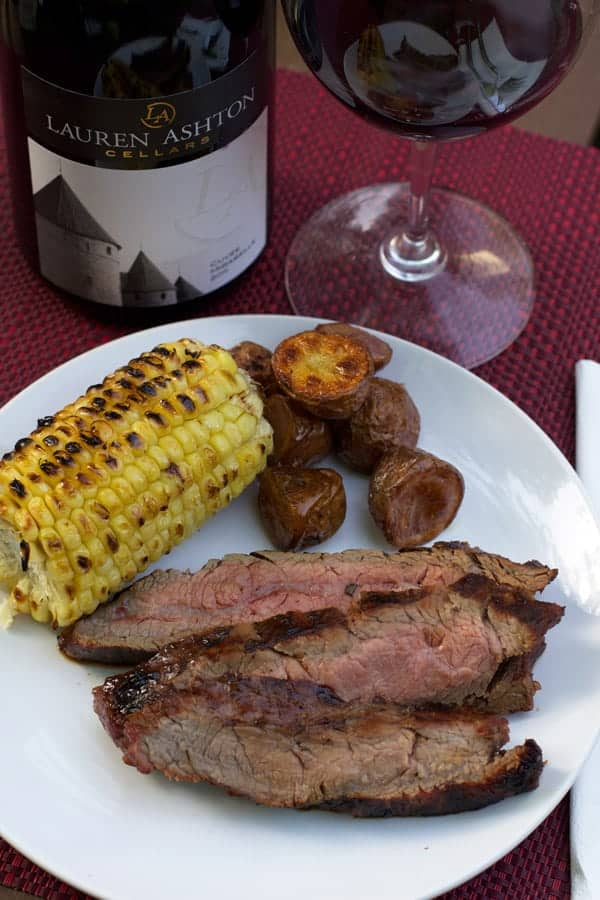 Rosemary and Soy Marinated Grilled Flank Steak and Wine Pairing ...