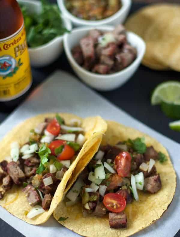 Smoked Beef Brisket Tacos | vindulgeblog.com