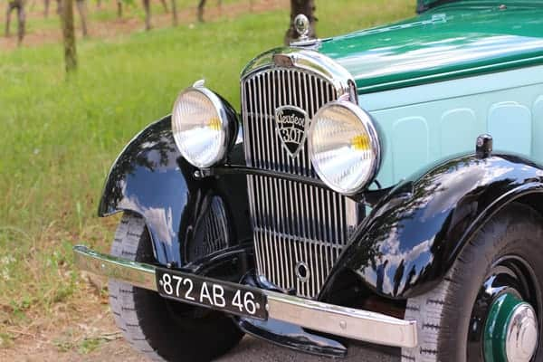 Riding in Old Cars in Cahors