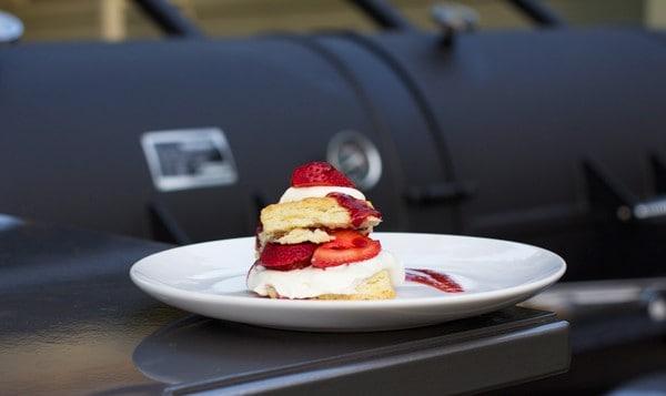 Smoked Strawberry Shortcake made on a Wood Fired Smoker