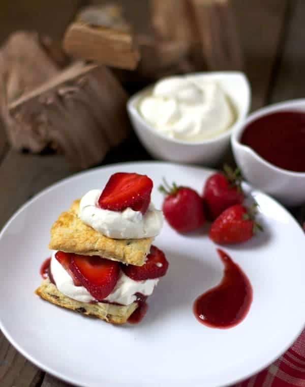 Smoked Strawberry Shortcake with Smoked Bacon Biscuits
