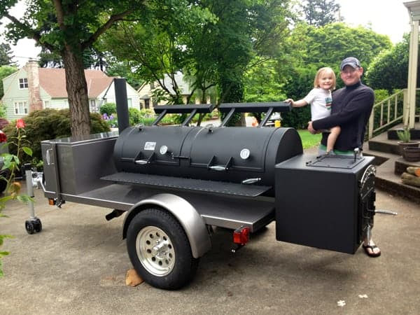 The new smoker and future BBQ Pitmaster