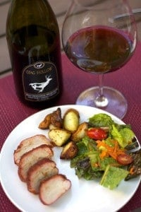 Pairing-Stag-Hollow-Pinot-Noir-with-Smoked-Pork-Tenderloin