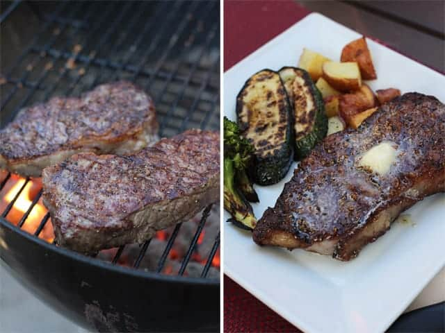 Strip Steak with Smoked-Butter