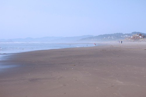 The quiet beach in Neskowin, Oregon
