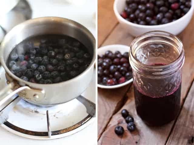 How to make a blueberry simple syrup