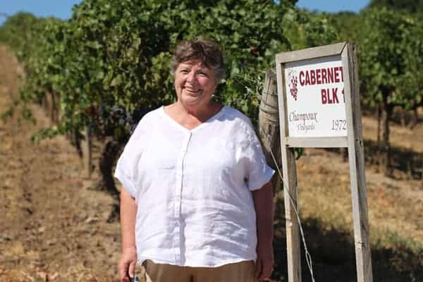 Linda Mercer--  Planted first vines at Champoux Vineyards