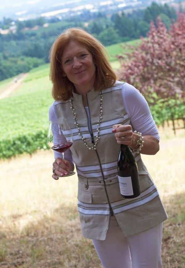 Page Knudsen Cowles of Knudsen Vineyards