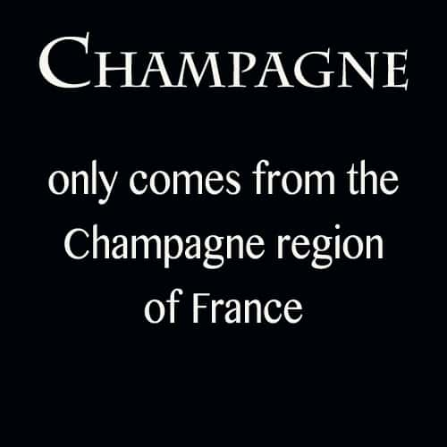 Champagne only comes from France