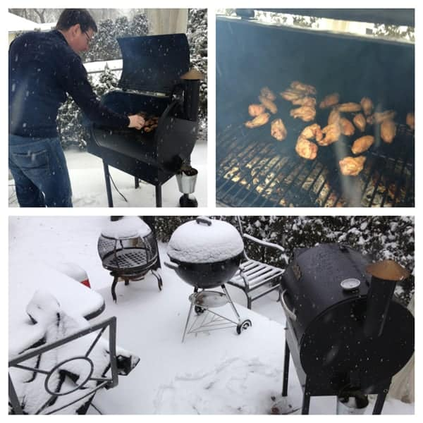 Cooking-outdoors-during-a-blizzard