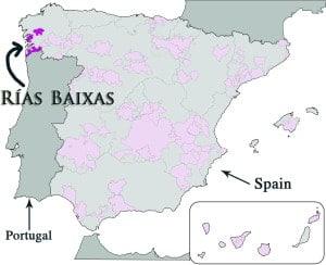 Image result for rias baixas spain map
