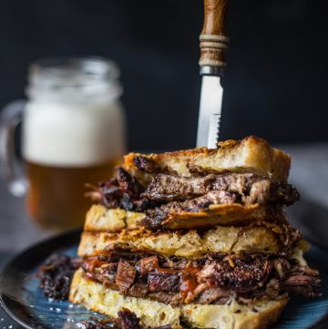 Smoked Brisket Grilled Cheese Sandwich