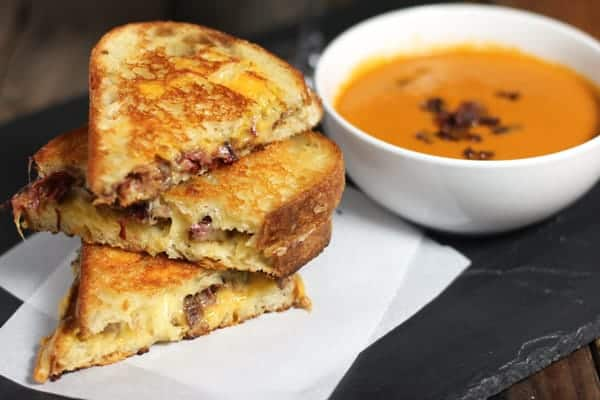 Smoked Brisket Grilled Cheese Sandwiches
