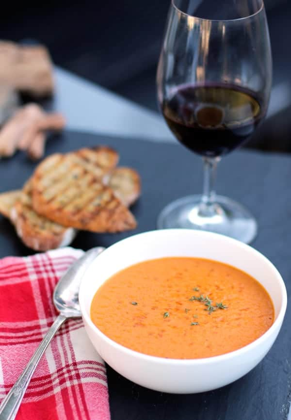 smoky tomato and bacon smoky tomato soup with crème smoky tomato ...