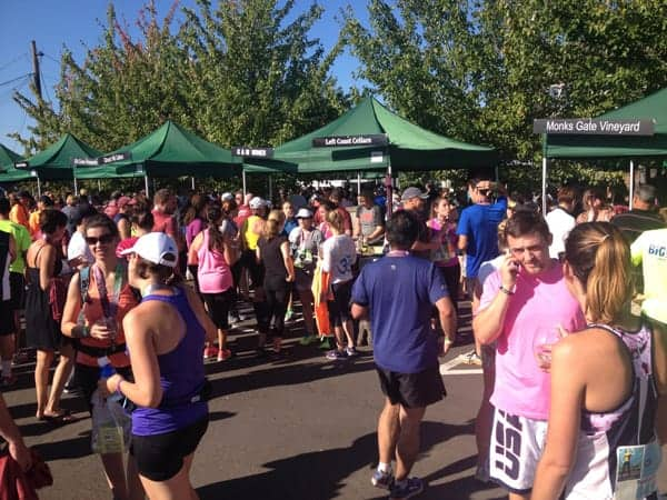 Wine festival at the Oregon Wine Country Half Marathon