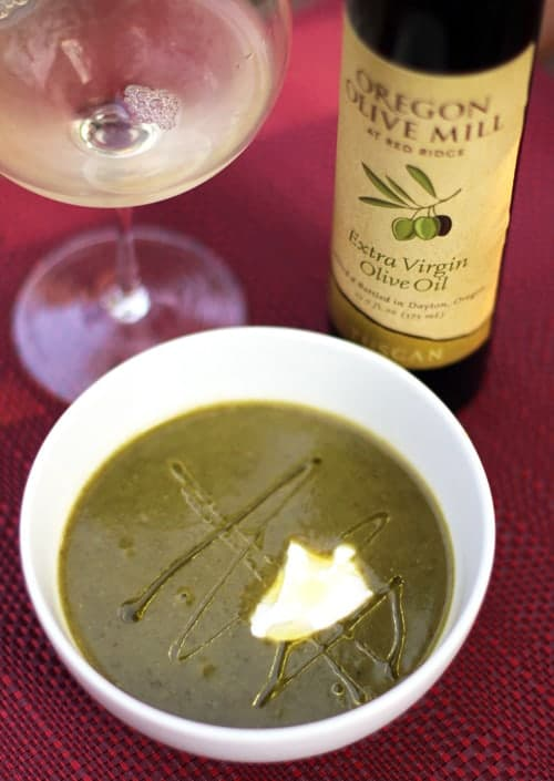 Asparagus soup with Olive Oil