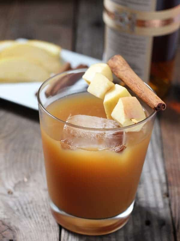 Bourbon Spiked Cold Apple Cider