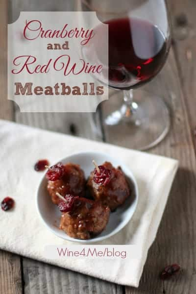 Cranberry Red Wine Meatballs -- a great appetizer for Thanksgiving or any holiday party