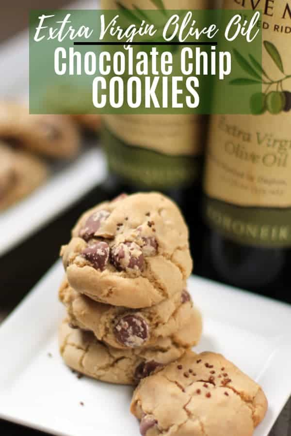 extra virgin olive oil chocolate chip cookies pin image