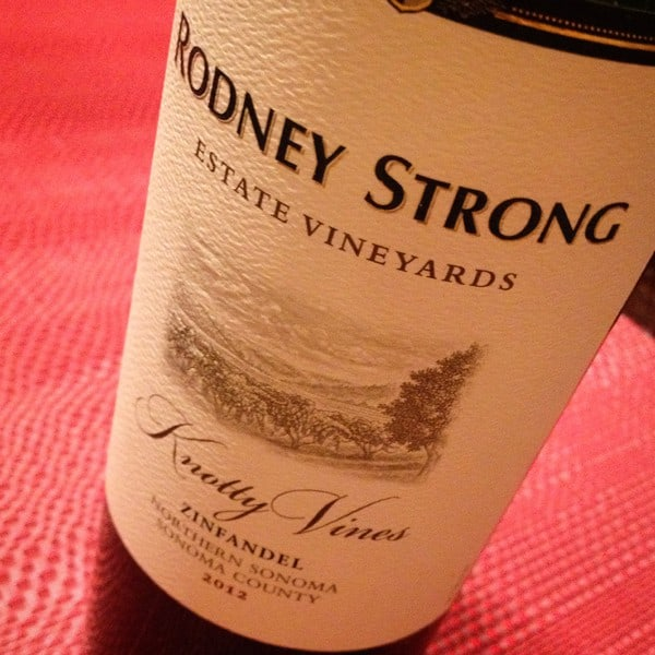 Rodney Strong Knotty Vines Zinfandel 2012