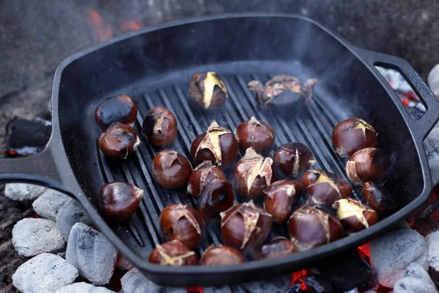 Chestnuts Roasted on a Weber Grill