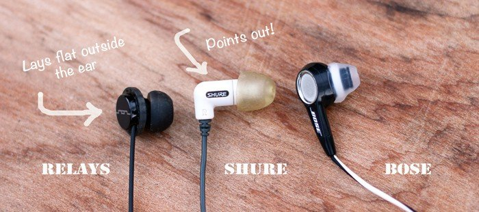 Comparing Relay vs Shure vs Bose in ear headphones