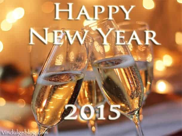 happy new year champagne flutes 2015