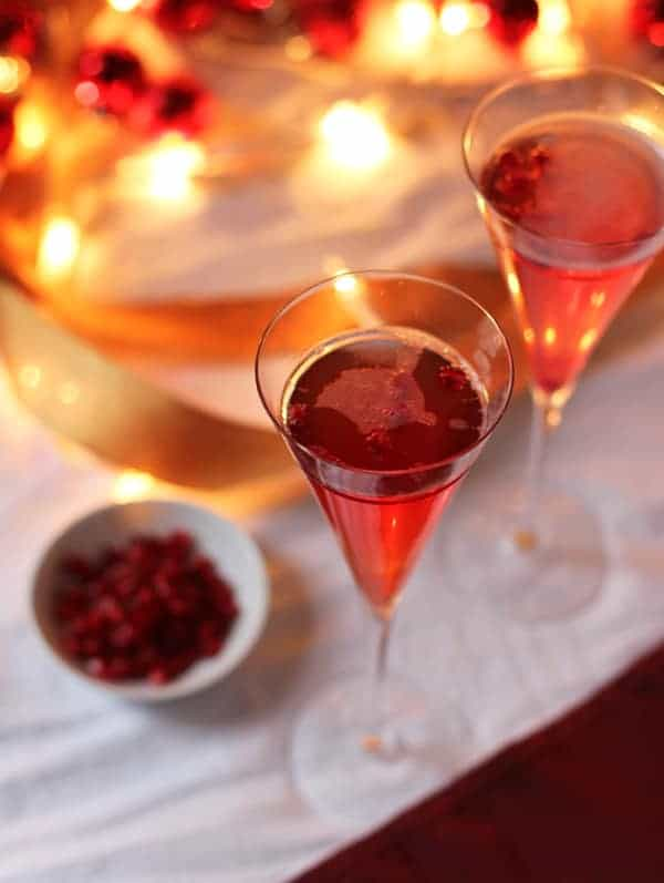 Pomegranate Mimosas. Perfect cocktail for the holidays.