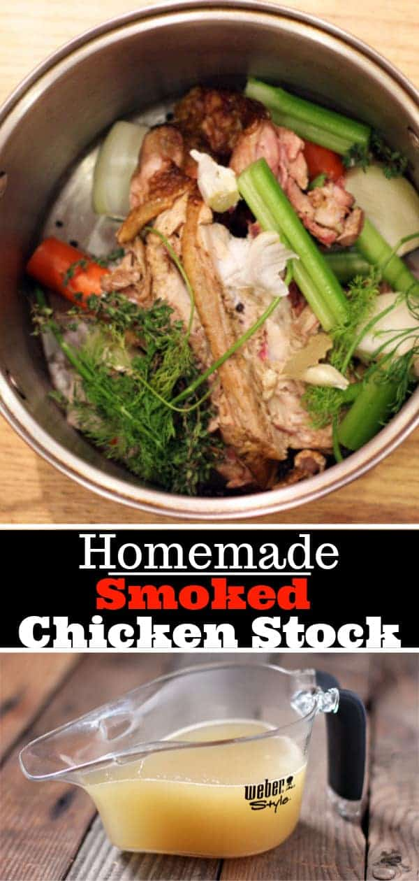 Homemade Smoked Chicken Stock Pin Image
