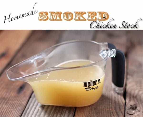 Homemade Smoked Chicken Stock