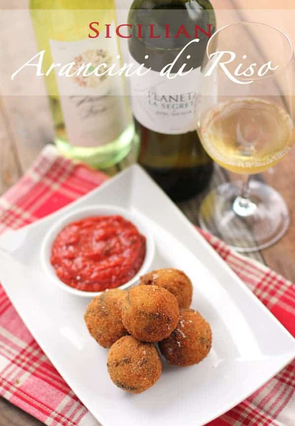 Sicilian Arancini di Riso -- Fried Rice Balls (recipe and wine pairing)