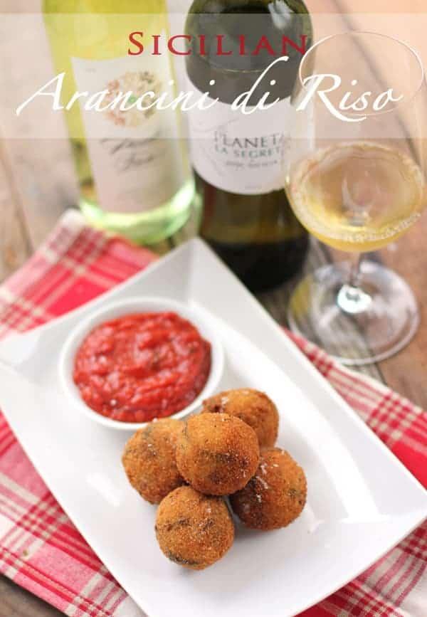 Sicilian Arancini di Riso  -- Fried Rice Balls (recipe and wine pairing)