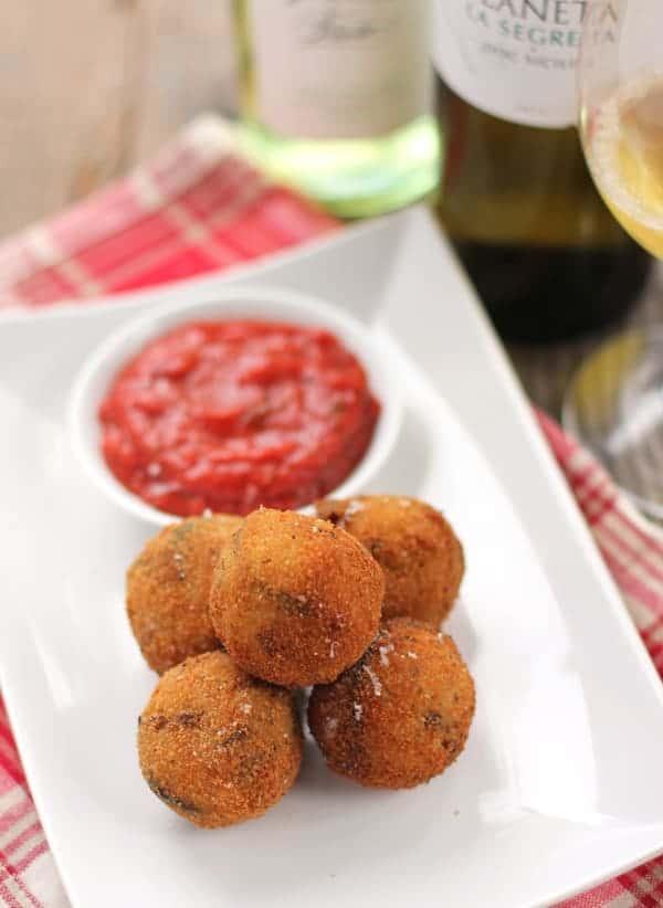 Sicilian Arancini di Riso and Wine Pairing