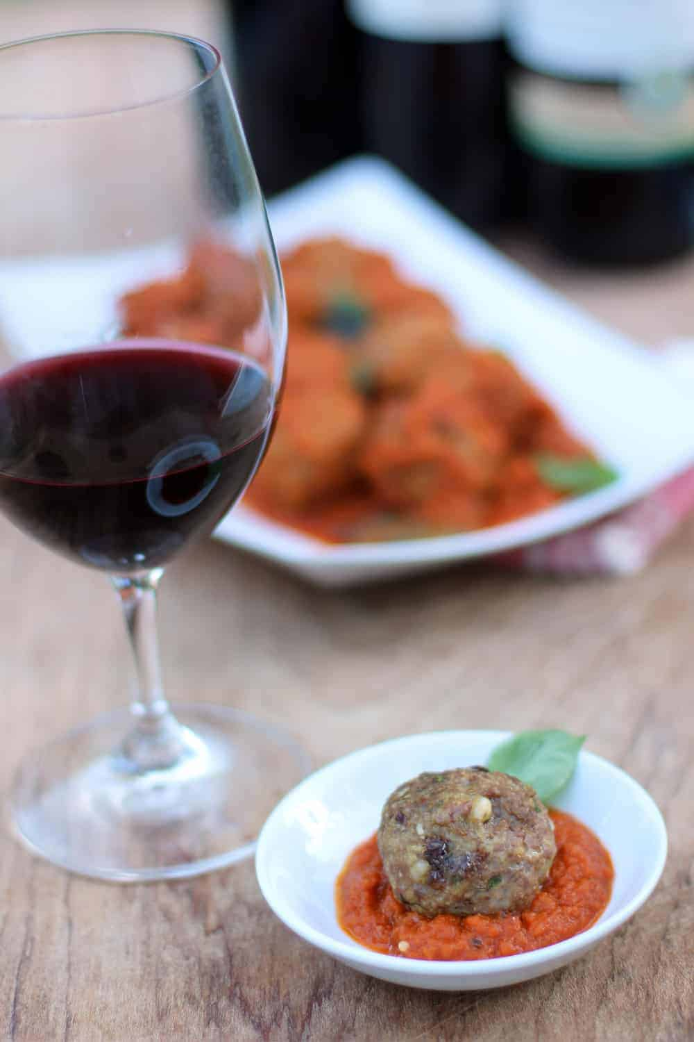 Sicilian Meatballs and Wine Pairing