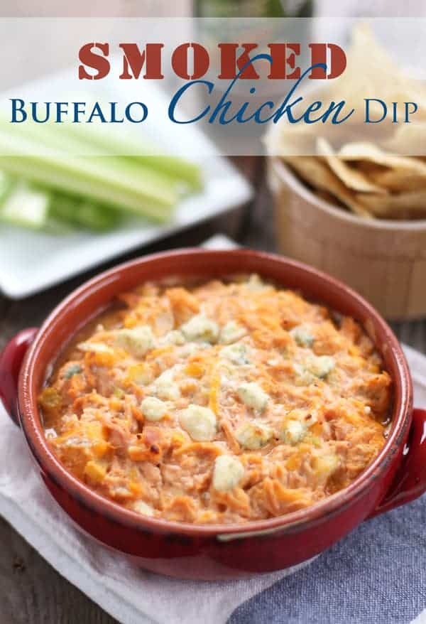 Smoked Buffalo Chicken Dip from vindulgeblog.com