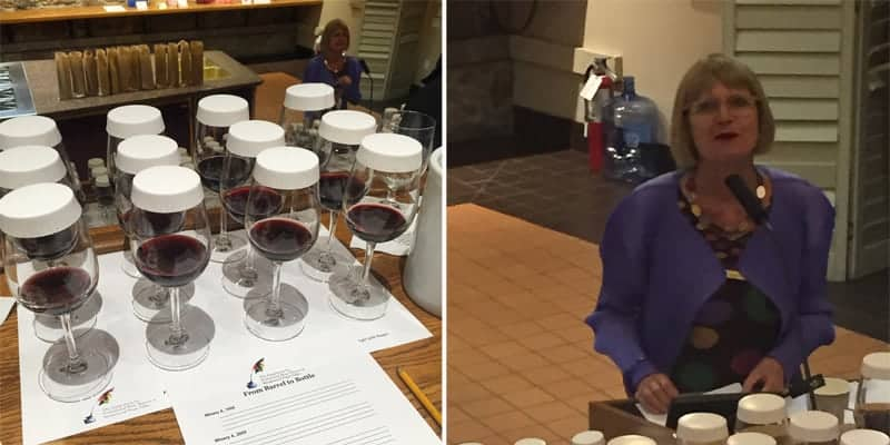 Jancis Robinson speaking at The Symposium for Professional Wine Writers