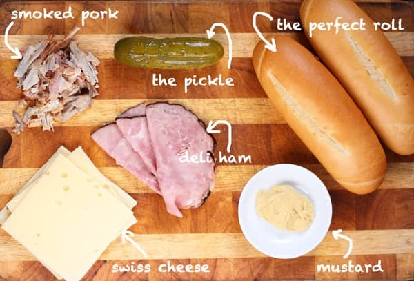 Smoked Cuban Sandwich ingredients